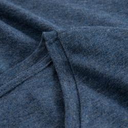 Photo of V-neck t-shirt women, navy blue melange