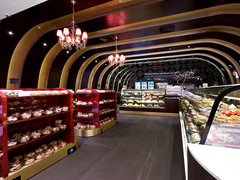 Bakery shops elegant cake and bakery shop interior for Bakery interior design