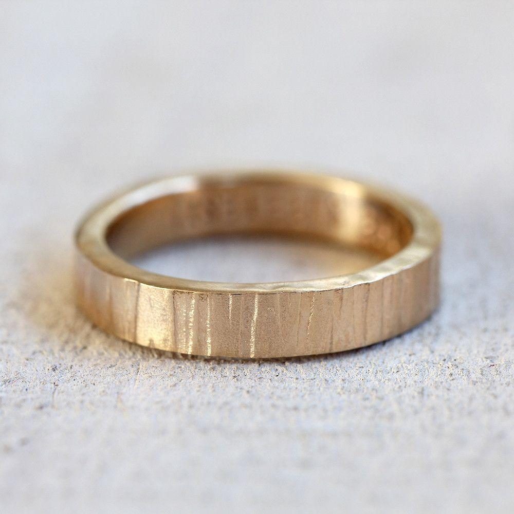 Gold Tree Bark Ring Tree Bark Wedding Band Bark Wedding Ring Bark Ring