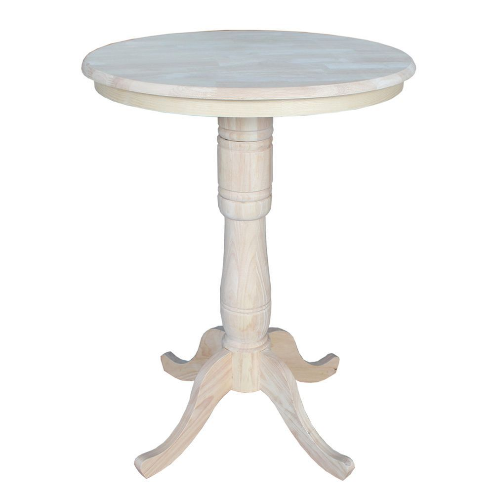International Concepts Unfinished 42 Inch High Round Bar Height