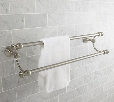 Mercer Double Towel Bar 24 Quot Satin Nickel Finish