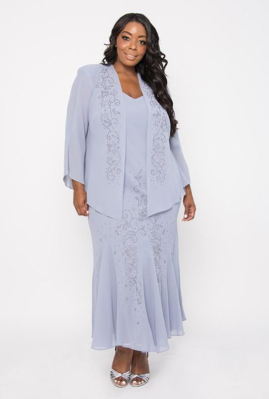 8577641359b R M Richards Plus Size Long Formal Mother of the Bride Dress in 2019 ...