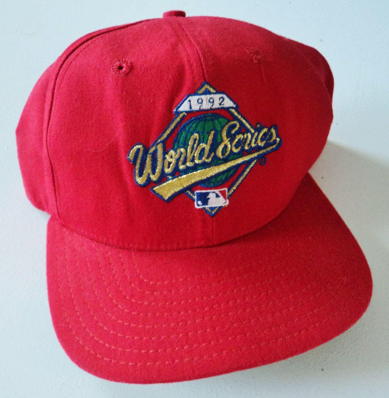 11c9e92663a Vintage 1992 World Series New Era Snapback Hat MLB VTG by  StreetwearAndVintage on Etsy