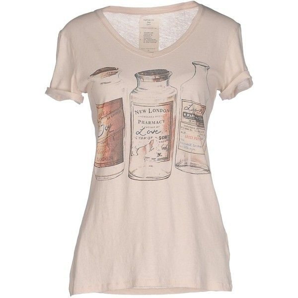 Vintage 55 T-shirt ($62) ❤ liked on Polyvore featuring tops, t-shirts, sand, cotton jersey, short sleeve cotton tops, jersey tops, cotton t shirt and short sleeve tee