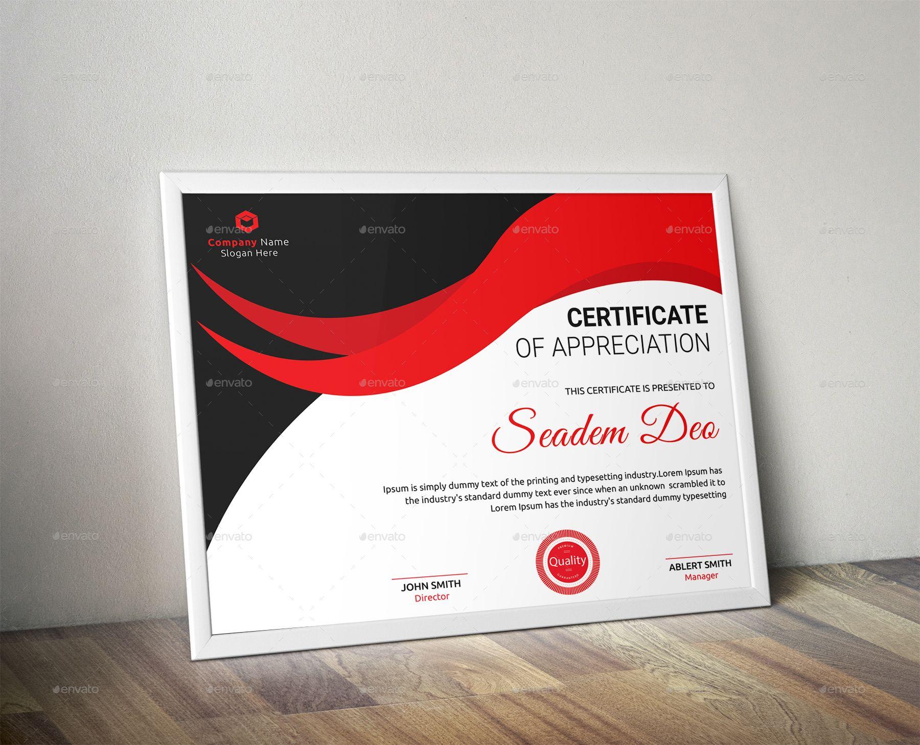 Certificate affiliate certificate business card design