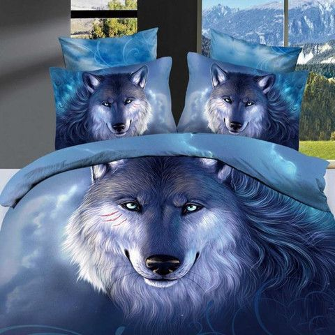 Home Of Chic Unique 3d Bedding Sets, Wolf Bed In A Bag Queen
