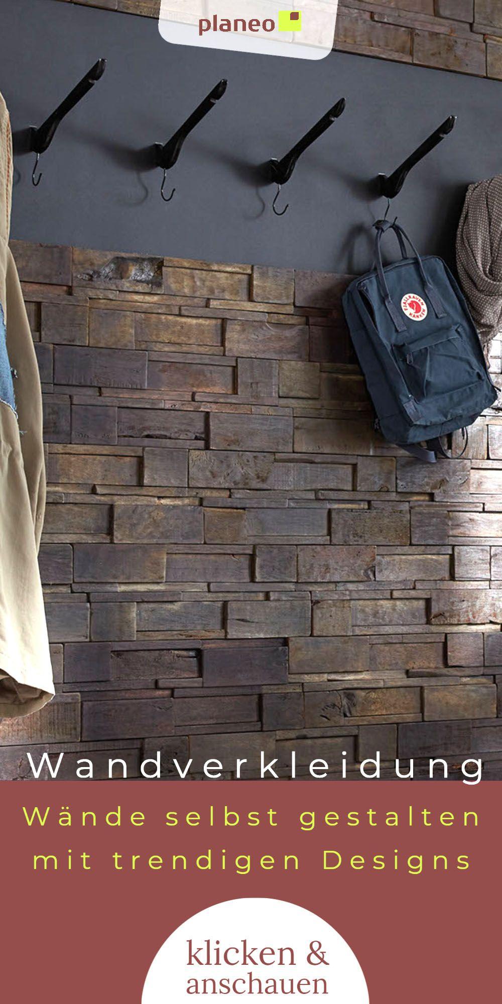 Wandverkleidung Wandgestaltung Aus Holz Altholz Kunststoff Fur Wohnzimmer Schlafzimmer U V M In 2020 Wandpaneele Wandverkleidung Wandgestaltung