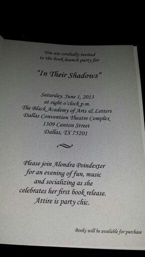 Invitation Wording For Book Launch