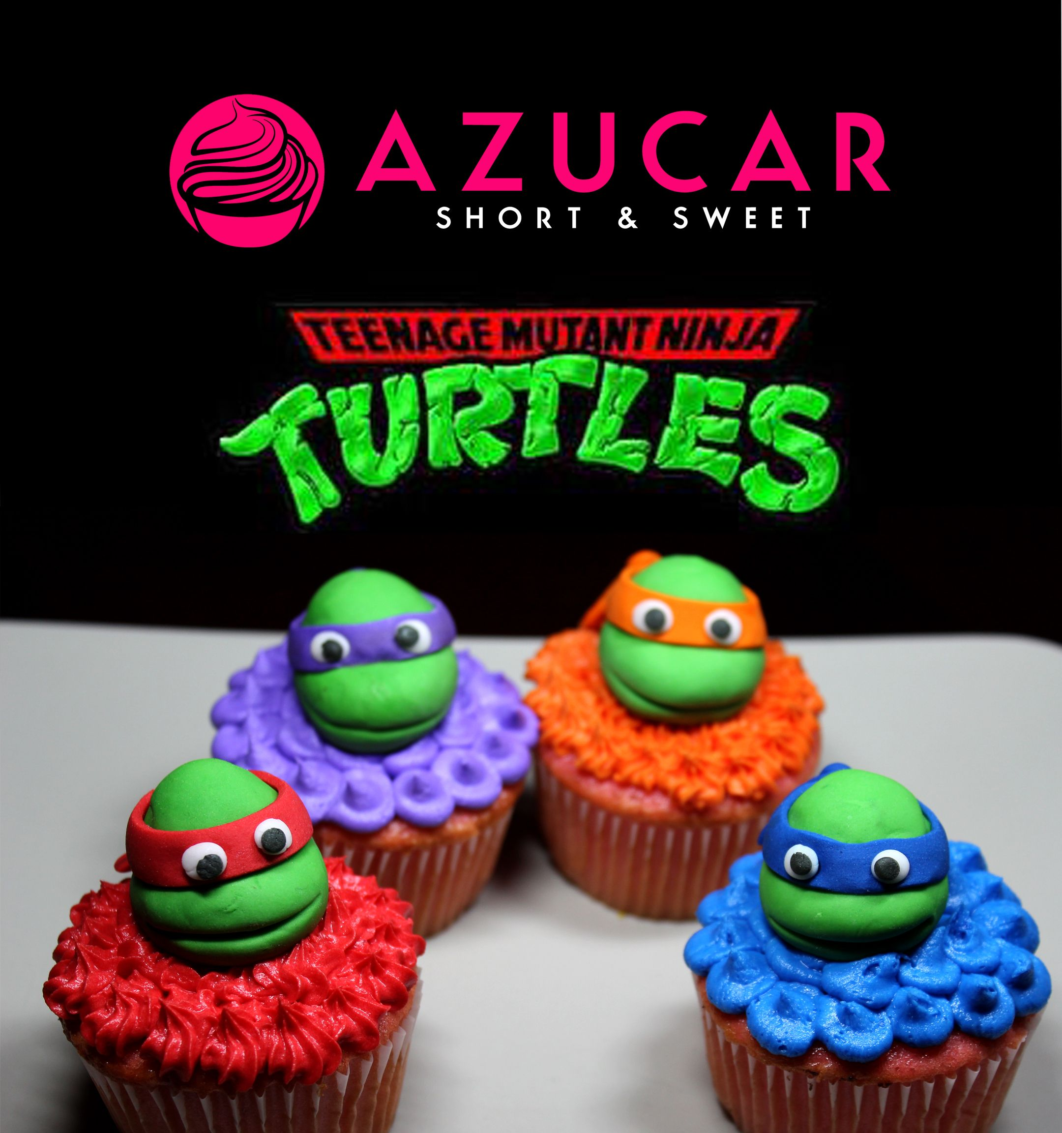 Tmnt Cupcakes Www Gotazucar Com Turtle Birthday Parties
