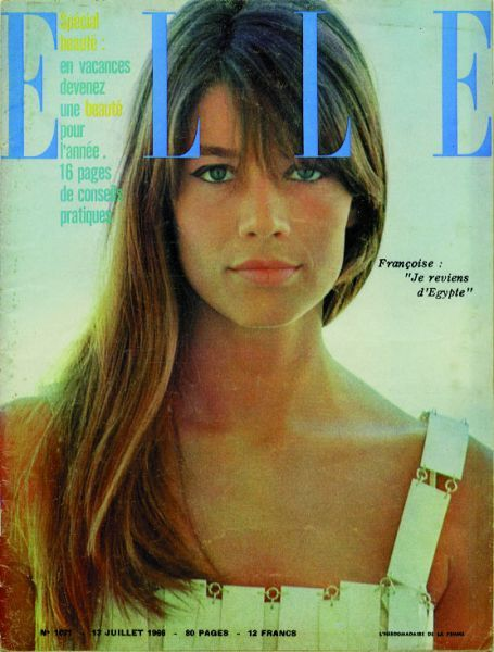 Francoise Hardy on the cover of French Elle magazine