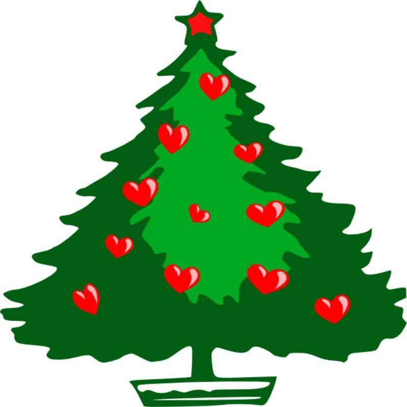 Christbaum Weihnachten rote Herzen 2 Stück | Weihnachten | Pinterest ...