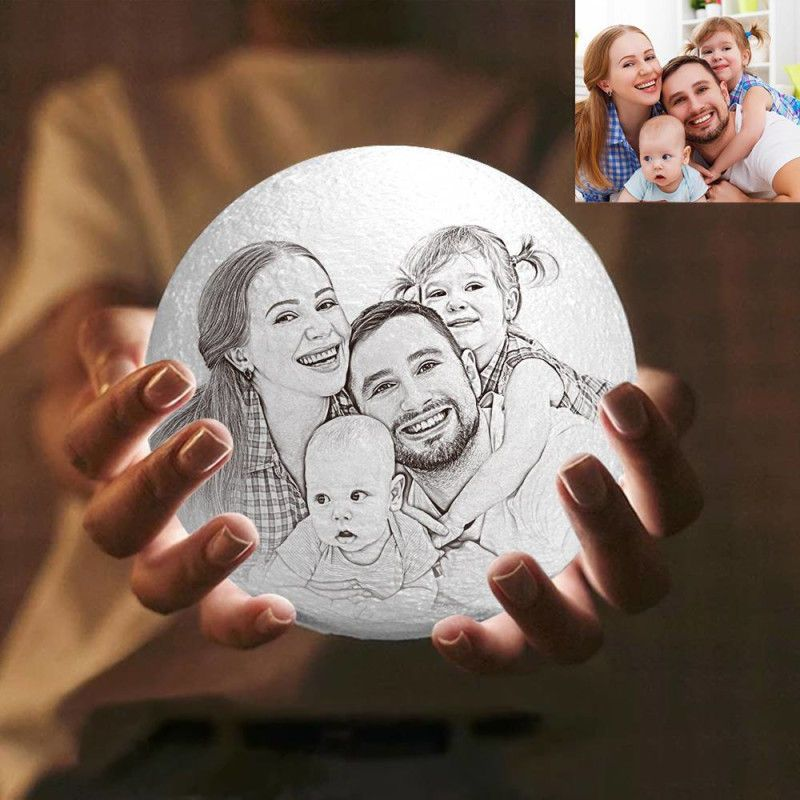 A Moon Lamp That Brings The Family Together This Father S Day In 2020 Custom 3d Printing Family Decor 3d Photo
