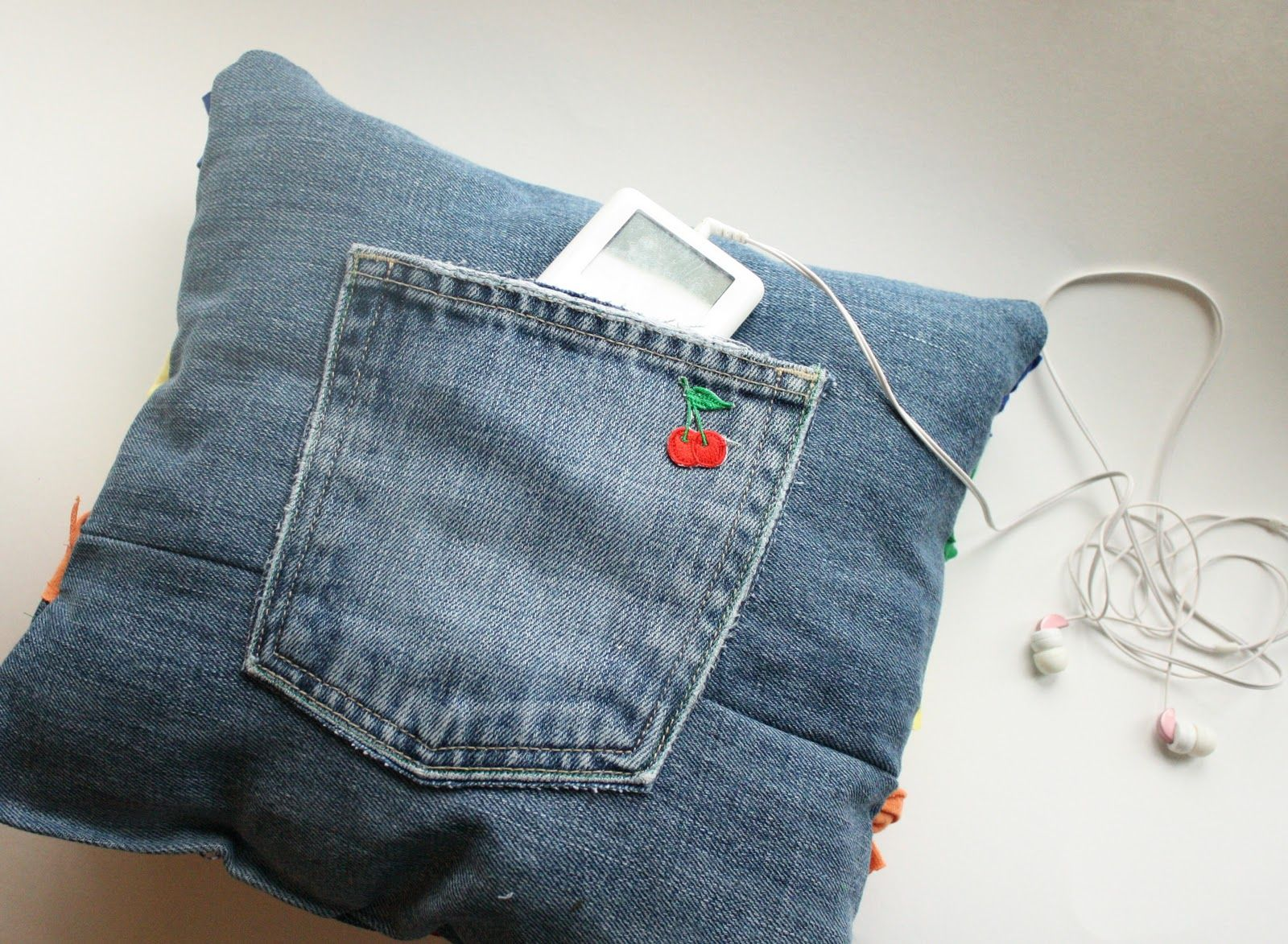 . old jeans, old t-shirts, and previous stuffing from a tired pillow