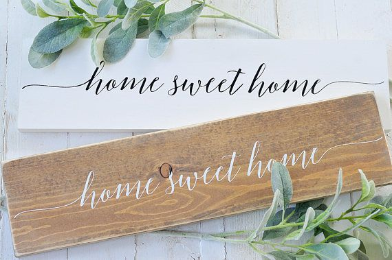 Home Sweet Home Wood Sign Rustic Farmhouse Home Decor