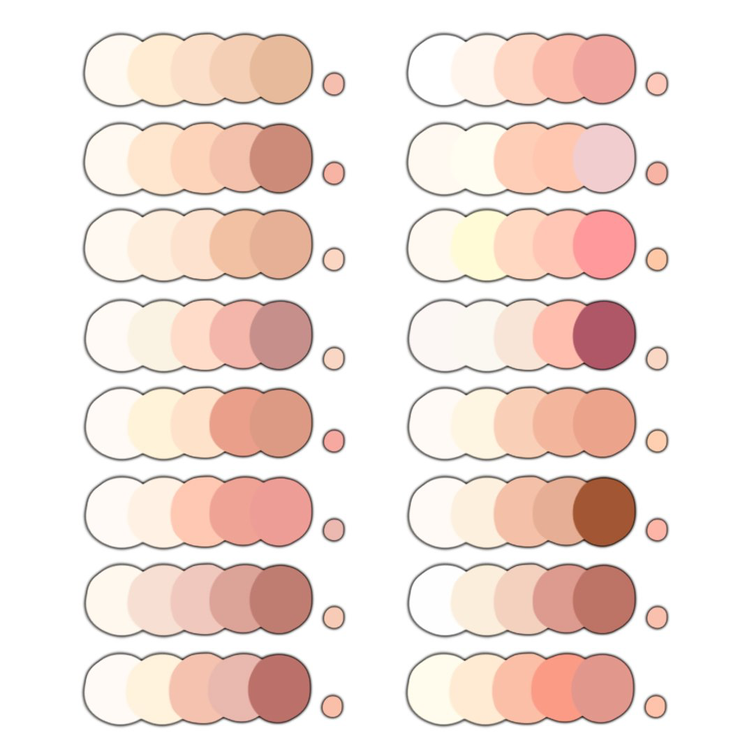 It's just a picture of Ridiculous Skin Color Pallete Drawing