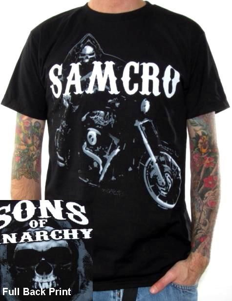 Sons Of Anarchy T Shirt Reaper On Bike Anarchy Shirts Anarchy Clothing Sons Of Anarchy