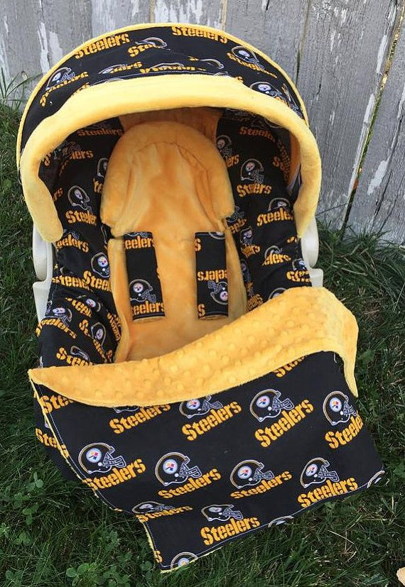 Pittsburgh Steelers Car Seat Cover 5 Piece By SewSweetBabyDesigns Covers Seats