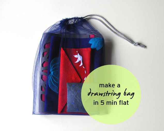 A tulle drawstring bag in 5 min flat | michele ng | fashion . beauty . craft . lifestyle