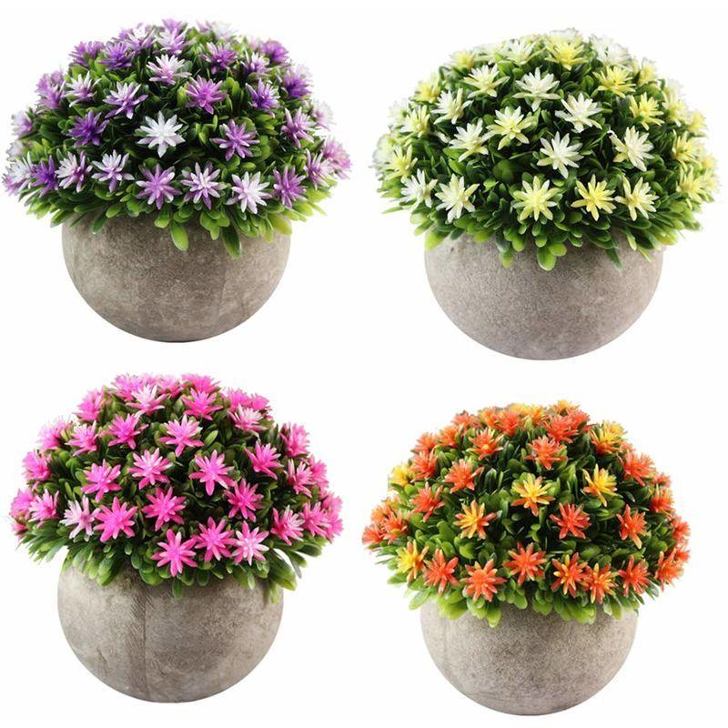 Artificielles Lily Fleur en pot-Orange