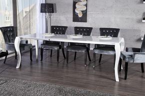 Casa Padrino Barock Esstisch Hochglanz Weiß Mit Auszug 170/200/230cm    Esszimmer Tisch   Barock Möbel Modern Casa Padrino Farbwelten Weiß |  Deko/Wohnideen ...