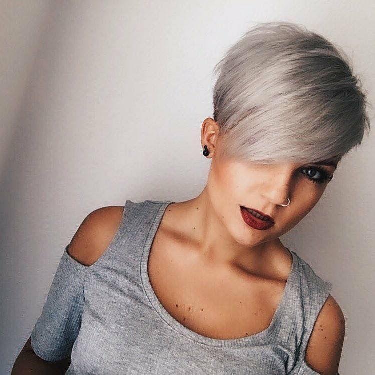 Love The Cut And Color Hiukset Pinterest Short Hair Hair