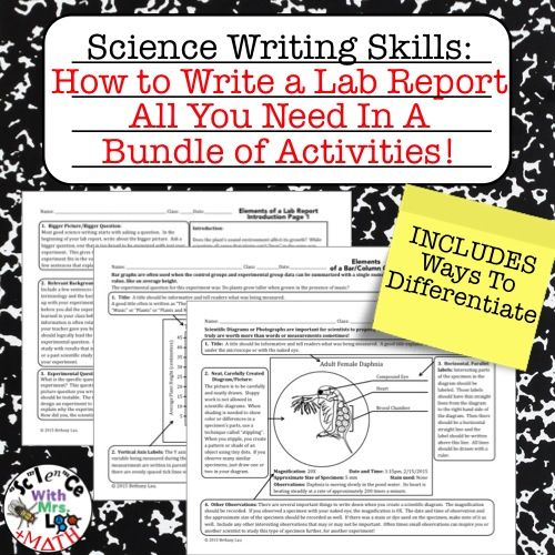 Lab Report Writing Bundle All You Need To Teach Your Students
