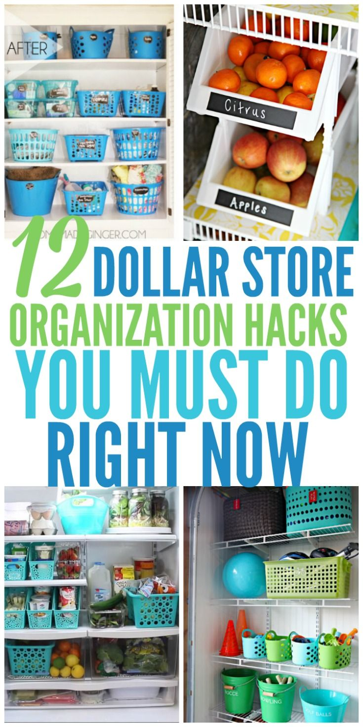 12 Dollar Store Organizing Hacks You Must Do Right Now - Organization Obsessed