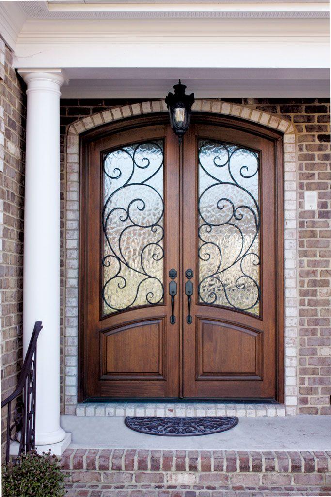 Aberdeen Burlwood W Flemish Glass Iron Doors Door Design Exterior Doors