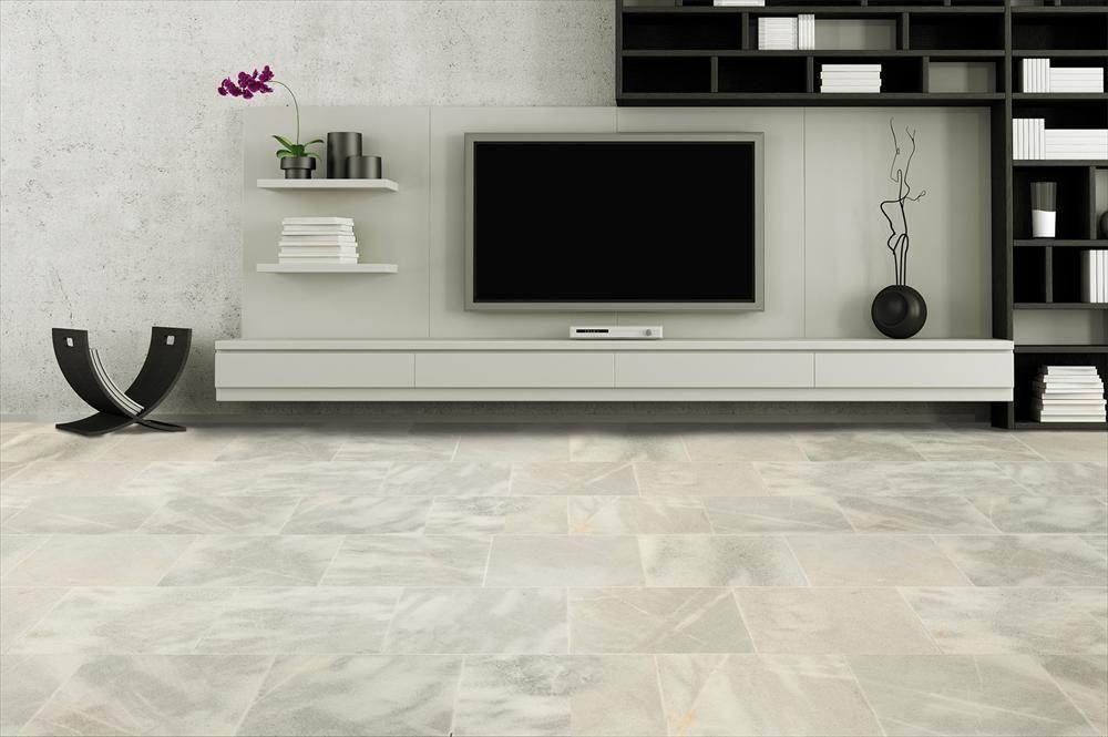 Elegant BuildDirect U2013 Marble Tile U2013 Fume Gray   Living Room View   Real Marble    This