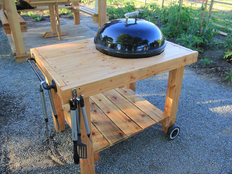 50 Backyard Hacks | Diy grill table, Grill table, Weber