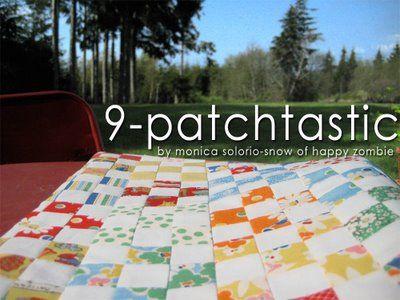 Moda Bake Shop: 9-Patchtastic Quilt  #modabakeshop #modafabrics #lovepinwin