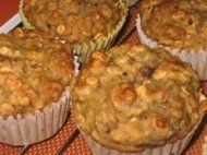 Banana oat & walnut muffins