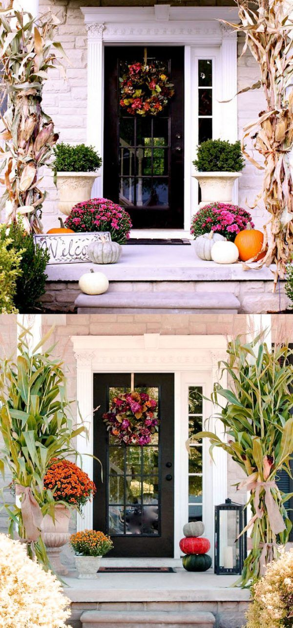 splendid diy fall outdoor decorations also best front door decor images ideas for home facades rh pinterest