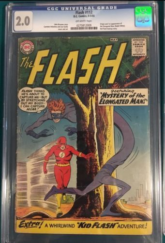 Certified Graded Cgc Cpgx Art Dc Marvel Comic Flash 112