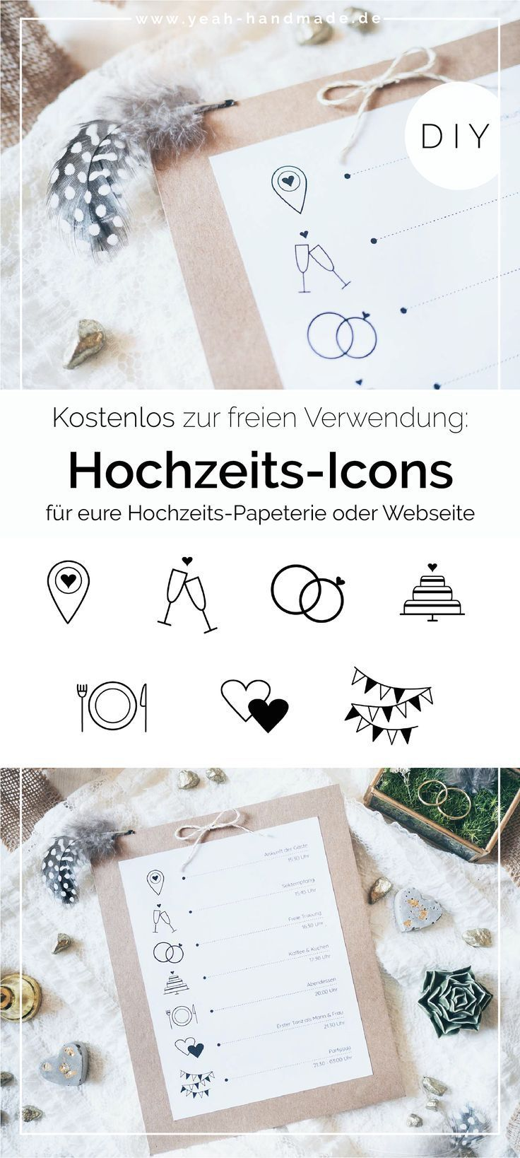 Hochzeits-Symbole zum kostenlosen Download #weddings