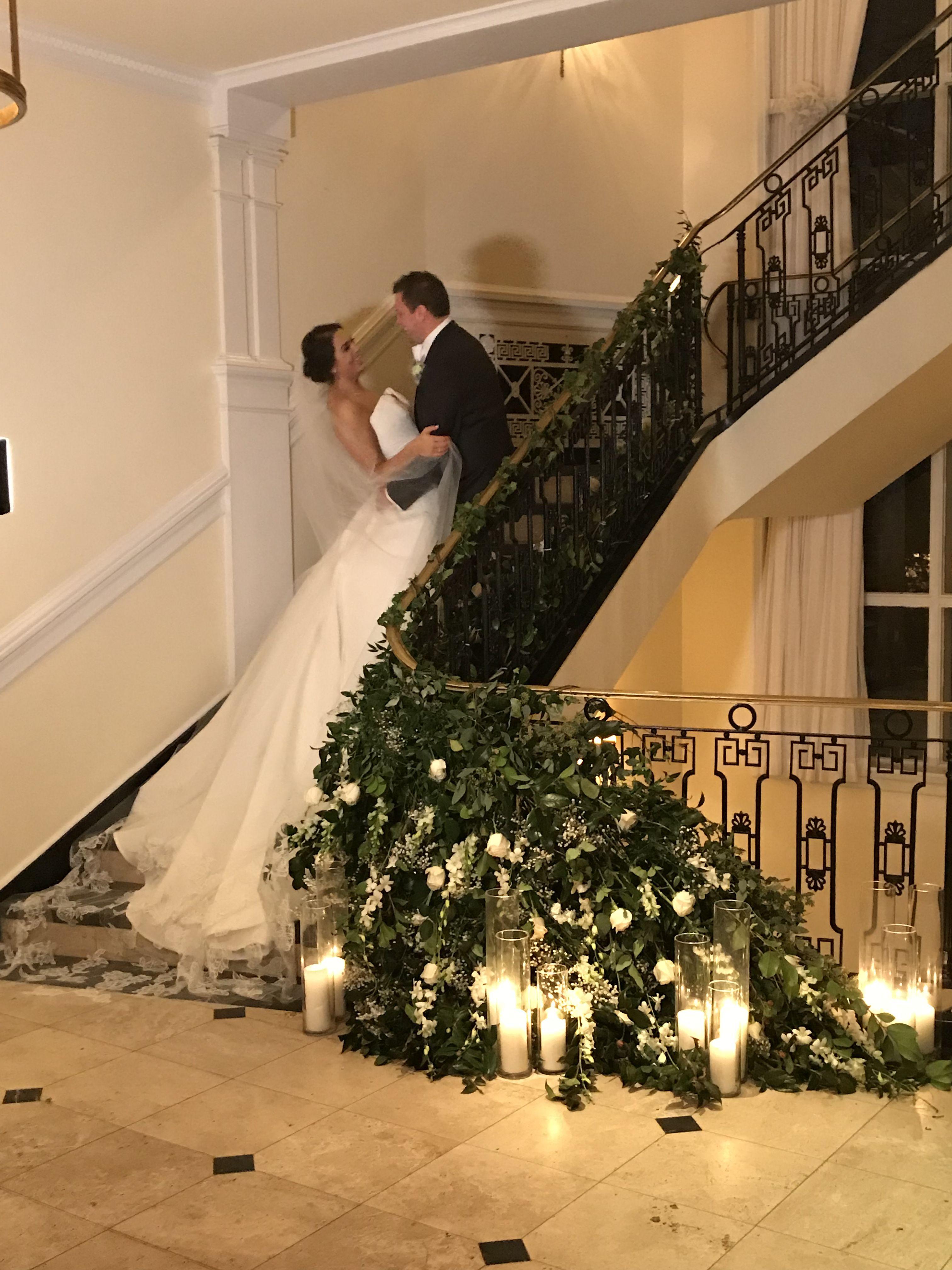 Long Island Ny The Carltun Wedding Bride Groom On Staircase In 2020 Long Island Wedding Wedding Bride New York Bride