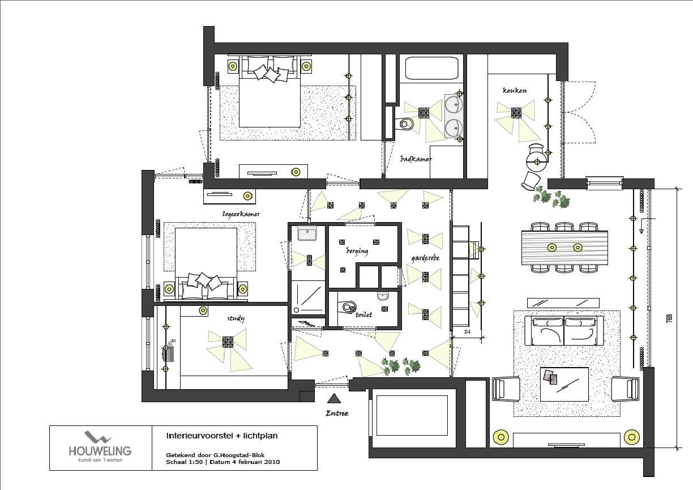 lichtplan voorbeeld | HOME | Licht | Pinterest | Interiors and Lights