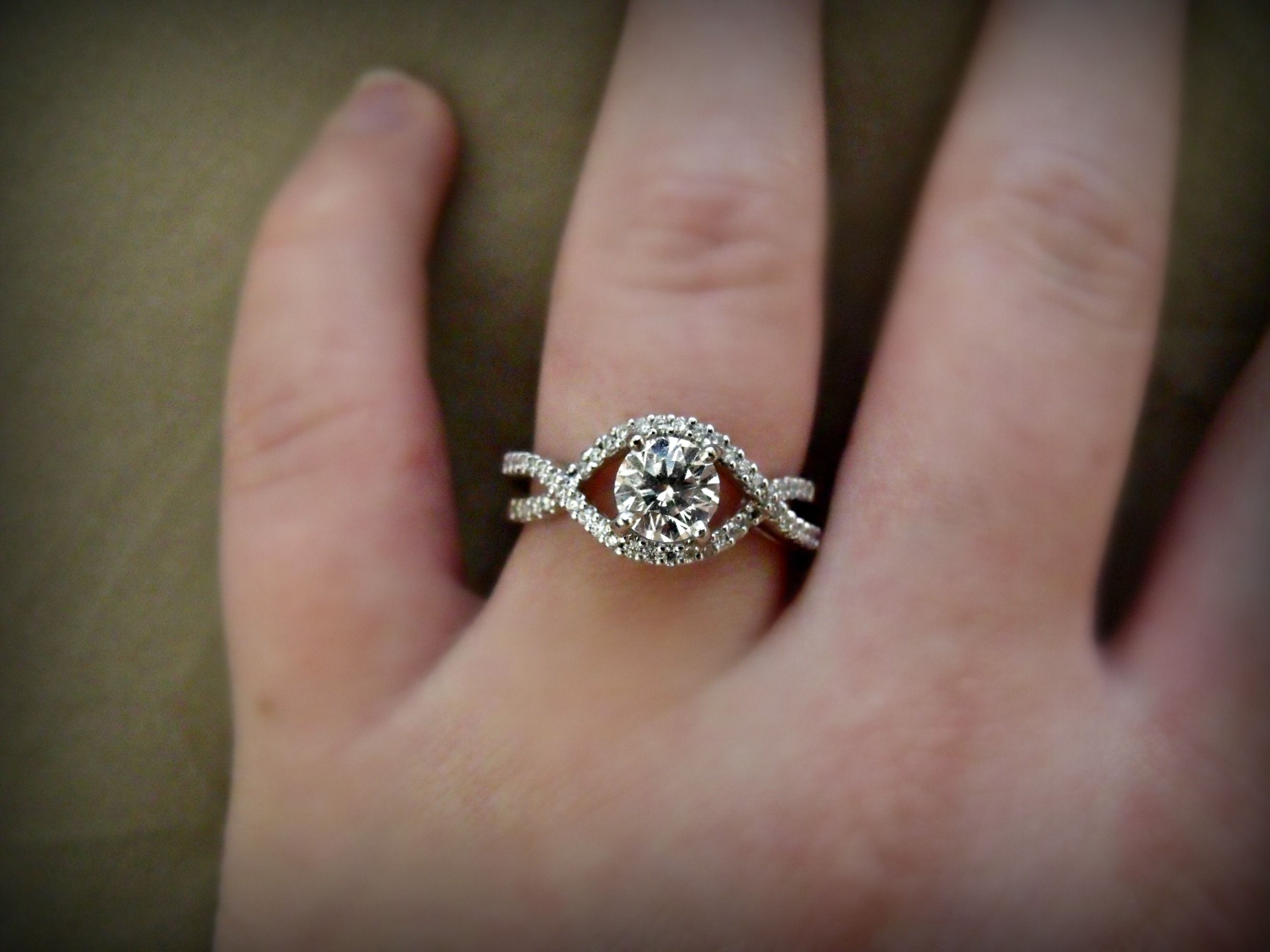 My Engagement Ring Please Excuse My Pregnancy Caused Fat Fingers Lol I M The One Wearing White
