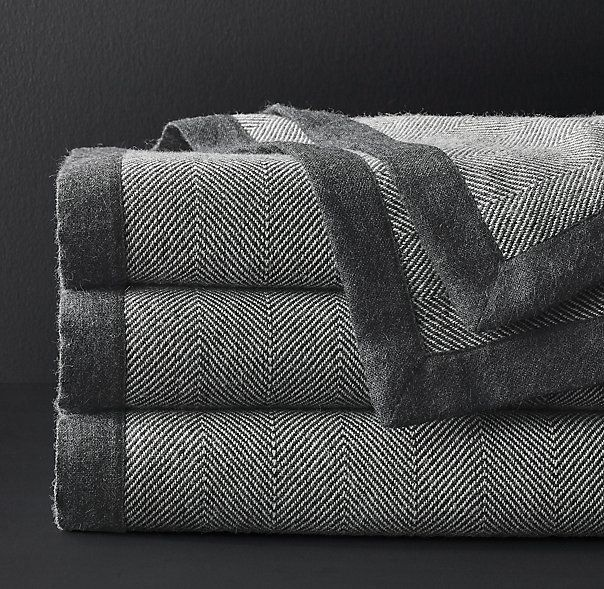 Baby Alpaca Herringbone Oversized Bed Throw