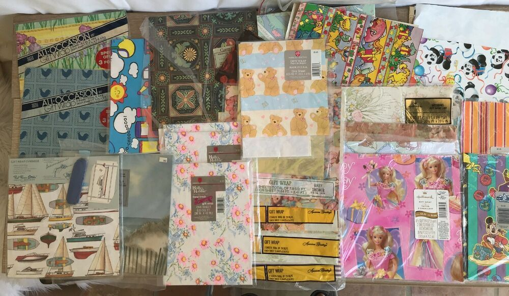 Vintage Holly Hobbie Disney More Wrapping Paper Full Sheets Scraps Mixed Lot Holly Hobbie Wrapping Paper Crafts Vintage Wrapping Paper