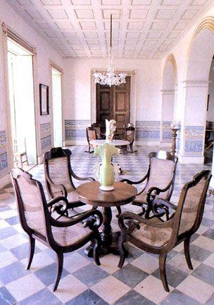 Museo Romantico.Trinidad Cuba Palacio Brunet Museo Romantico British Colonial