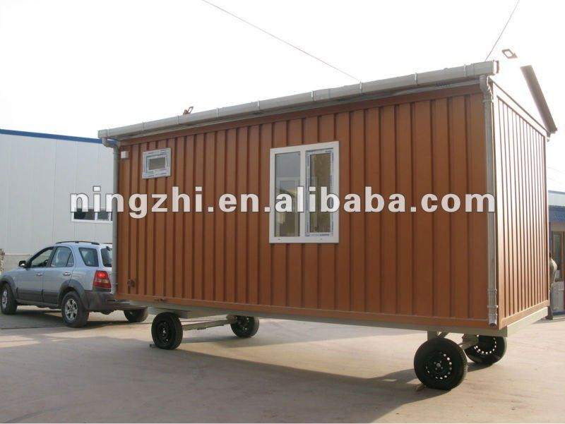 Modular de contenedores casa modular de contenedores contenedores modulares de oficina con - Casas prefabricadas con ruedas ...