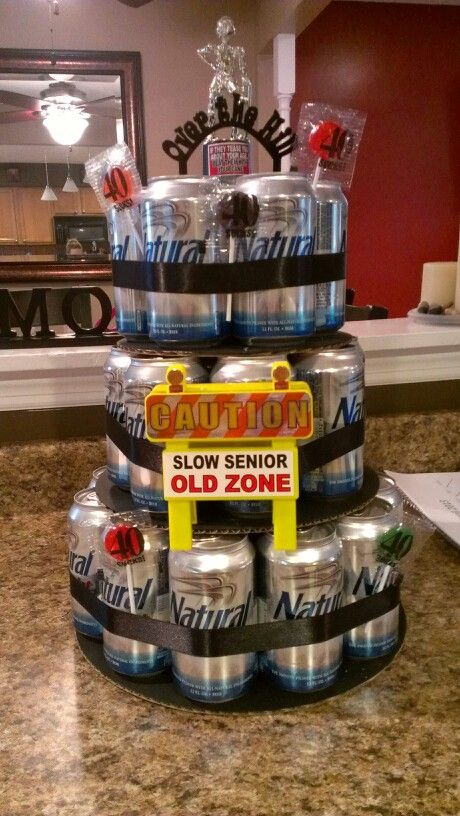 Beer Can Cake For A 40th Birthday 40th Birthday