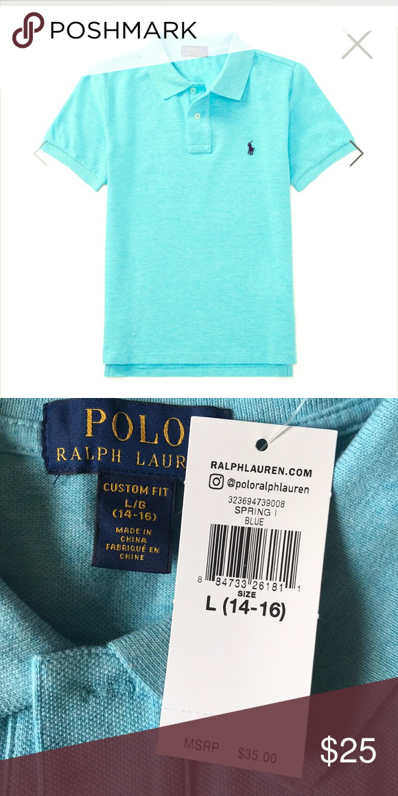 Lauren Beach Ralph Aqua Boys Polo 5RL34Aj