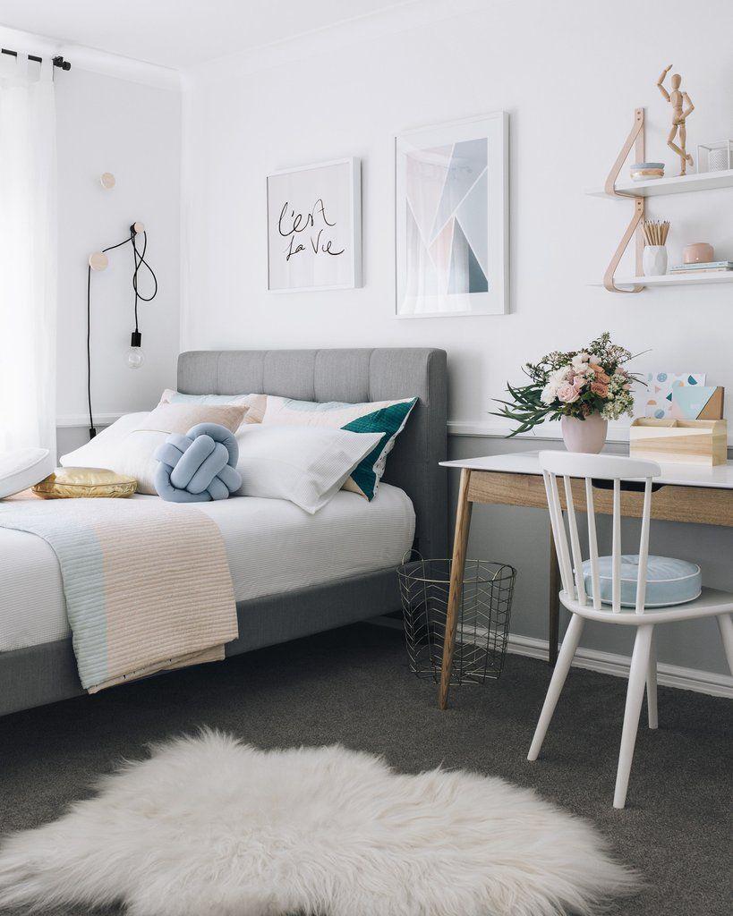 C Est La Vie Square Teenage Room Decor Bedroom Makeover