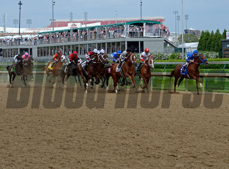 First time by--Untapable with Rosie Napravnik wins the Kentucky Oaks day at Churchill Downs in Louisville, Ky., on May 2, 2014. Photo by Anne M. Eberhardt