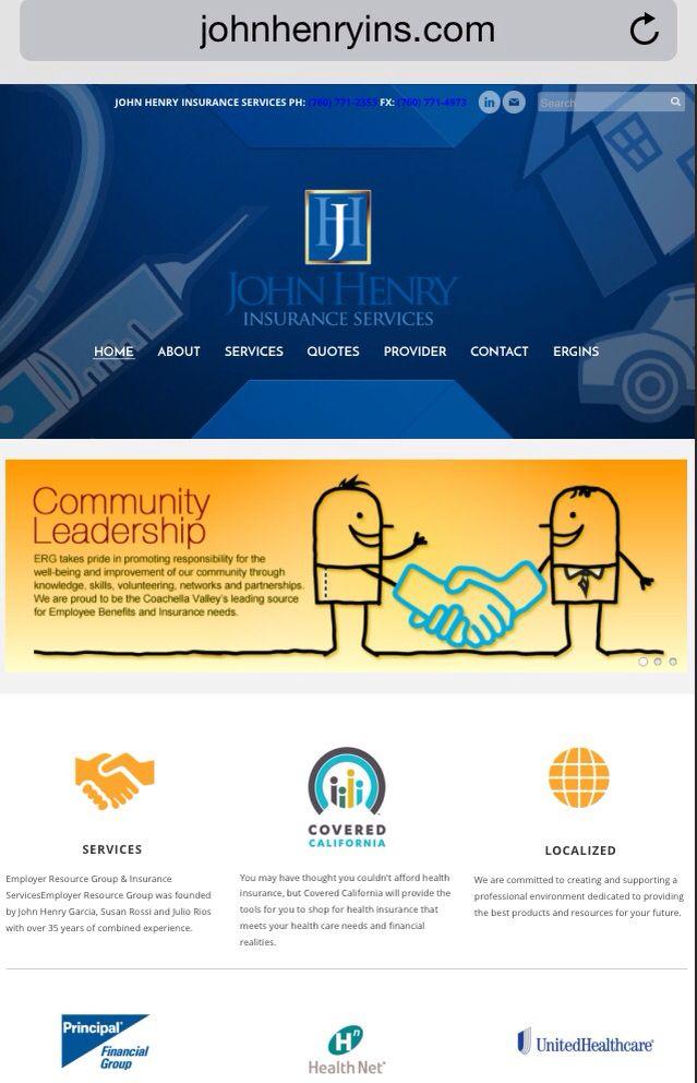 Web Design John Henry Insurance Webdesign Jdrart Jdrdesigns Graphicdesign Www Jdrart Com Service Quotes Web Design Graphic Design