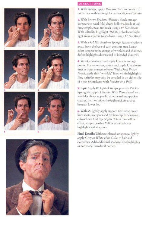 How to do old man make-up (Ben Nye) | Costumes | Pinterest | Ben ...