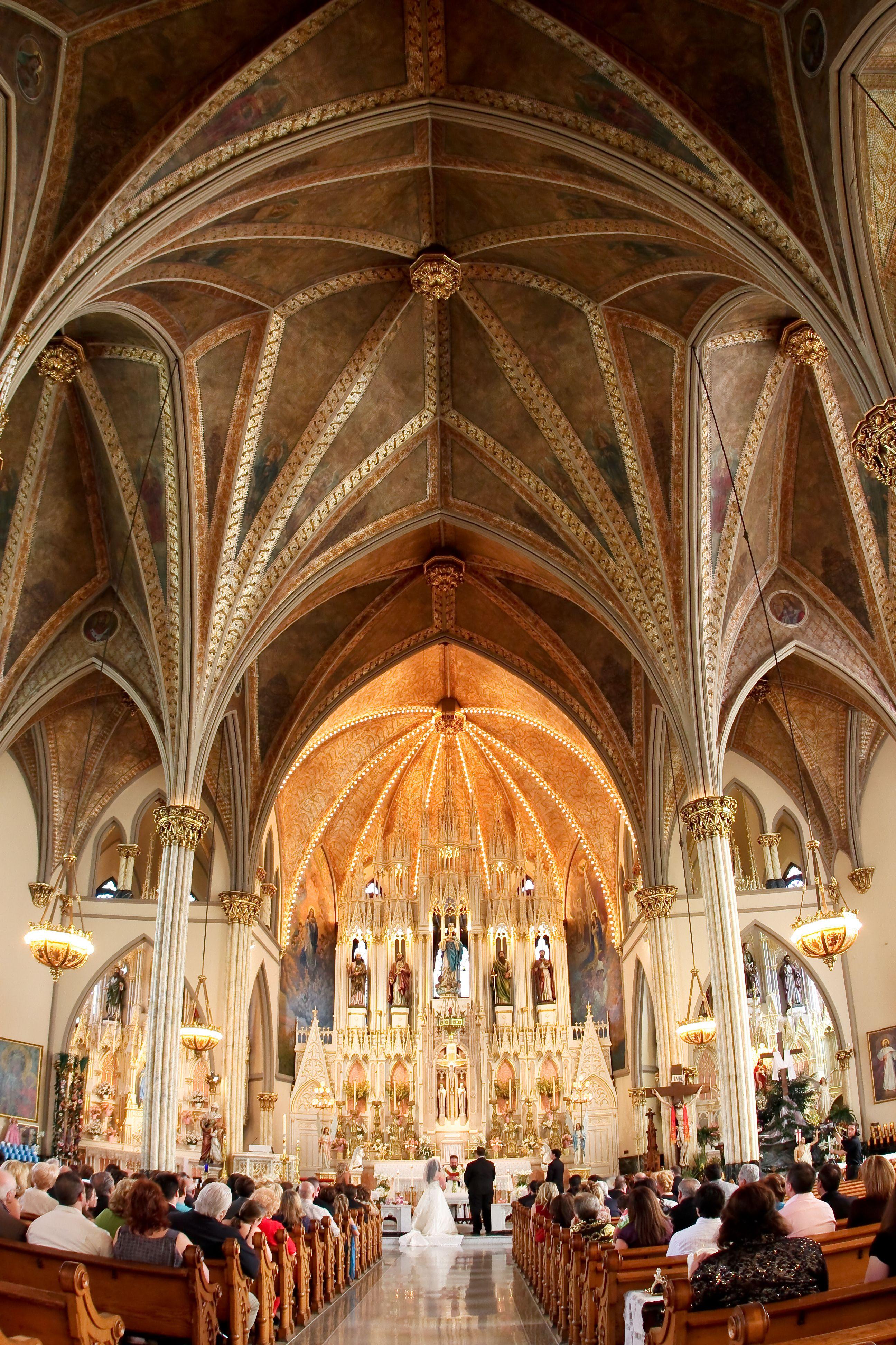 Wedding At Sweetest Heart Of Mary Catholic Church Detroit Mi