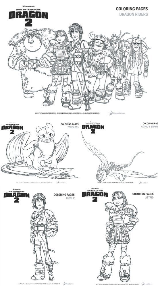 How To Train Your Dragon 2 Printable Coloring Activity Pages